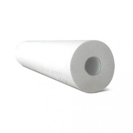 Papel camilla de 1 capa sin precorte 80 mts, Blanco