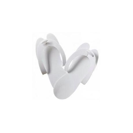 Sandalias desechables de espuma blancas, 1 par