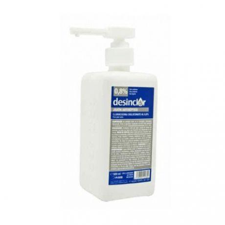 Desinclor jabón antiséptico Clorhexidina Digluconato 0.8% , 500 ml.