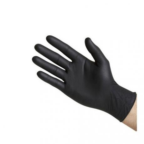 Guantes de latex - nitrilo negros , caja 100 und.