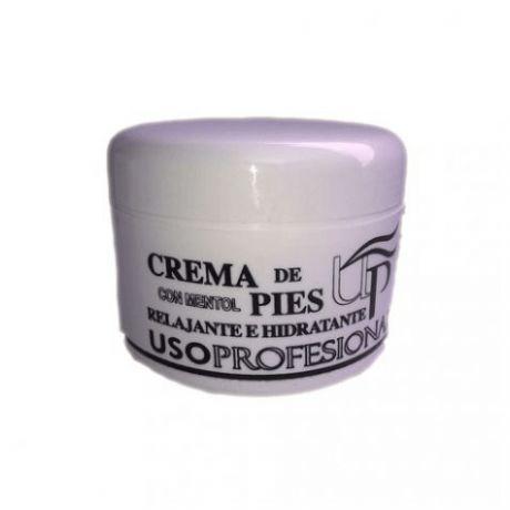 Crema de pies con mentol relajante e hidratante de Uso Profesional, 200 ml.