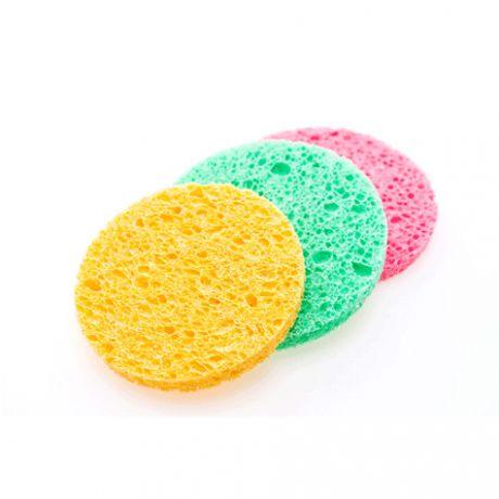 Esponjas para desmaquillar de 9 cm. de diámetro, 100 und.