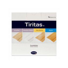 Tiritas sensitive elastic, - Rollo de 5 m x 6 cm