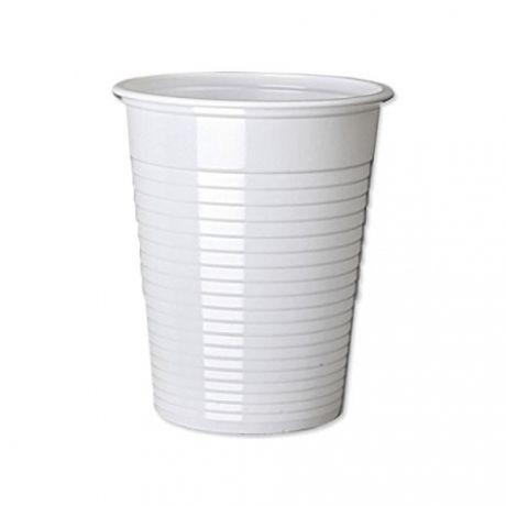 Vasitos Plástico Blancos 220 cc, 300 unid.