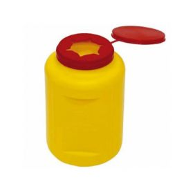 Contenedor Uso Unico para Residuos Hospitalarios, 1 L.
