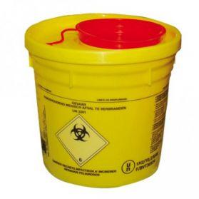 Contenedor Uso Unico para Residuos Hospitalarios, 12 L.