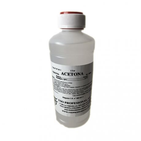 Acetona Pura, 1000 ml.