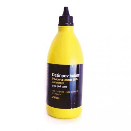Desinpov Iodine solución antiséptica povidona iodada 10%, 500 ml.