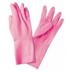 Guante Flocado Rosa, Pack 12 pares