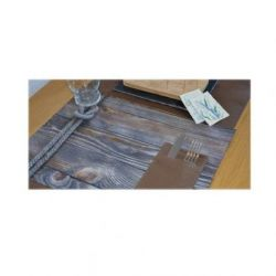 Mantel 30x40 Nature Nudos, Pack 12 Unid.