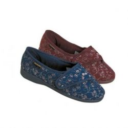 Zapatillas cómodas y antideslizantes femeninas Carmen Bluebell, num 37. Burdeos