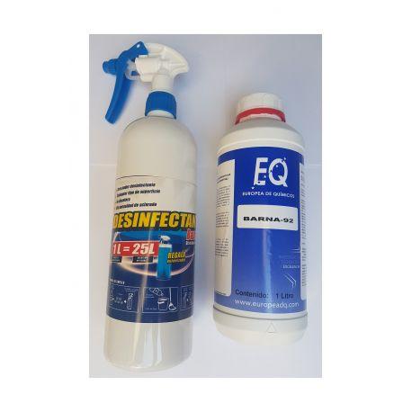 BARNA-92 Desinfectante hidroalcoholico para diluir -Todo tipo de superficies incluido textil