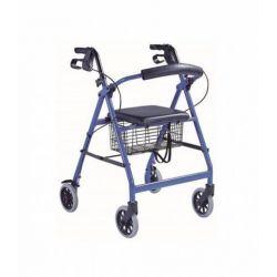 Andador 4 ruedas y asiento