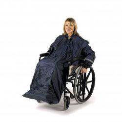 Chubasquero con mangas Splash para silla de ruedas L