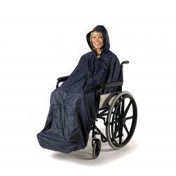 Chubasquero forrado sin mangas Deluxe Splash para silla de ruedas - L