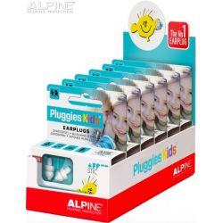 Tapones Alpine Pluggles en cajas para display.