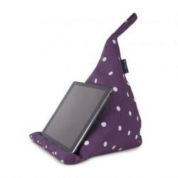 Cojin de tableta violeta punteada