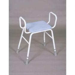 Taburete con asiento de poliuretano con reposa-brazos