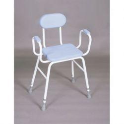 Taburete con asiento de poliuretano con reposa-brazos y respaldo (sustituye a PR60262)
